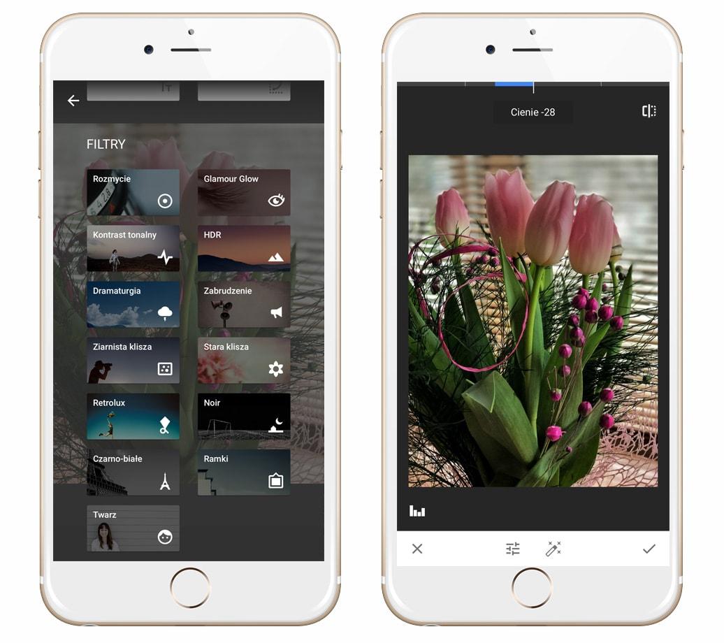 aplikacje do edycji zdjec w telefonie snapseed