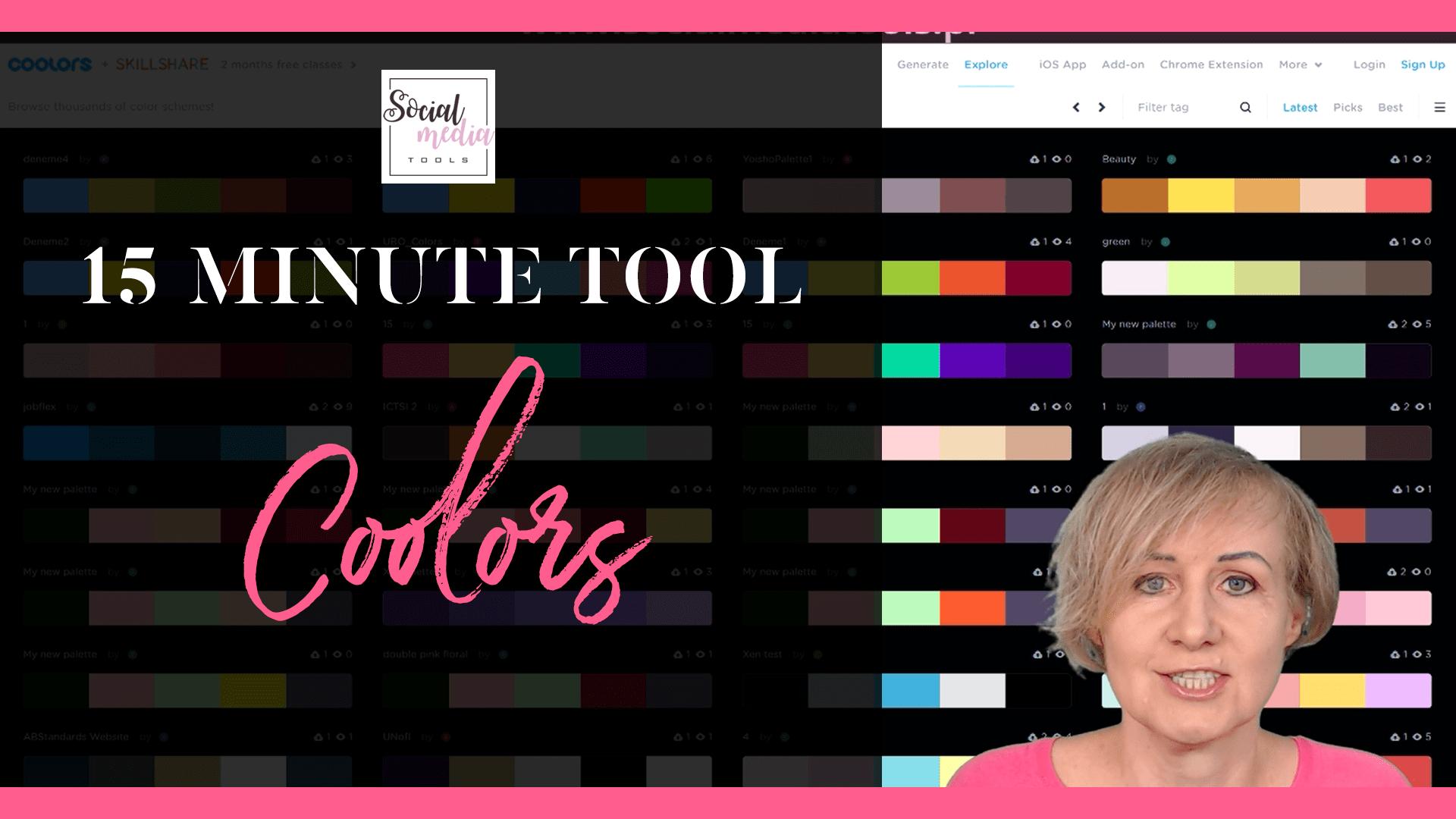 Coolors piękne palety kolorystyczne